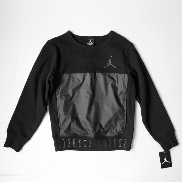 4cc8042afb6129 NIKE AIR JORDAN JUMPMAN black sweatshirt boys m